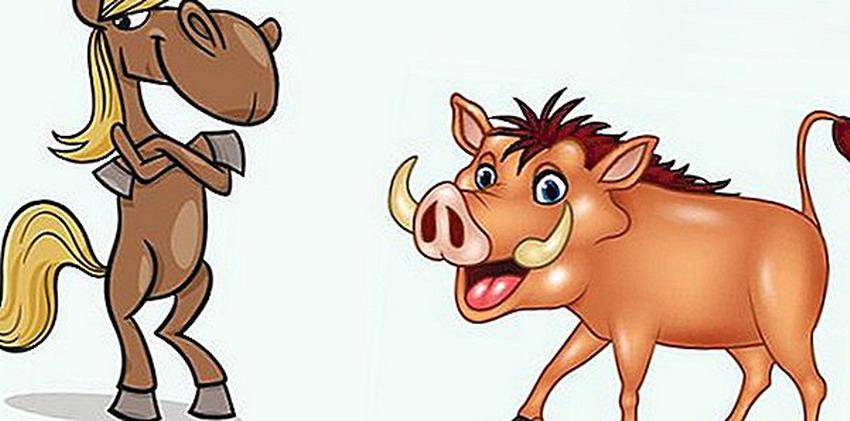 Esopo - Il cinghiale e il cavallo